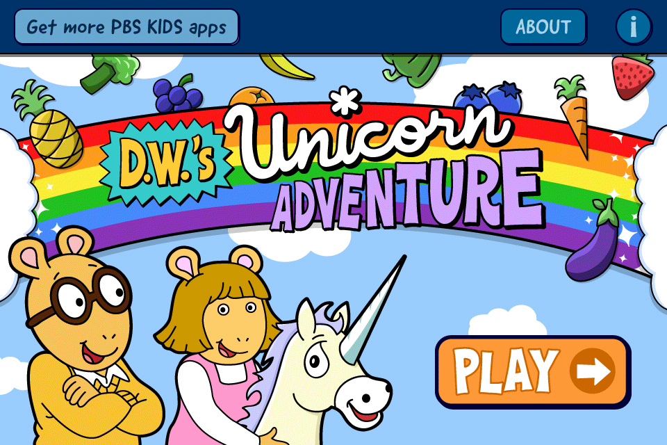 Screenshot D.W.'s Unicorn Adventure